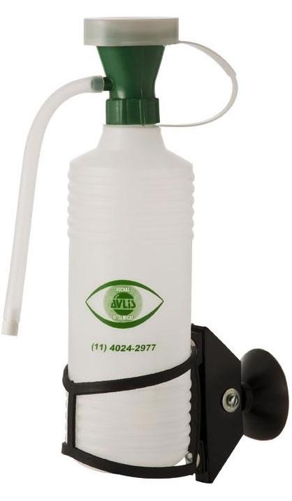 Botellas lava ojos doble con cartel