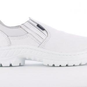 Zapatos Blancos Elastizados con Puntera